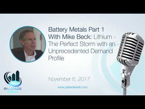 Mike Beck: Lithium - The Perfect Storm with an Unprecedented Demand Profile