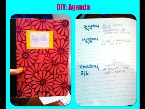 DIY Agenda - YouTube - how to create a agenda