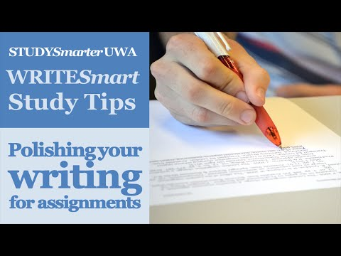 How to polish your writing for UWA assignments