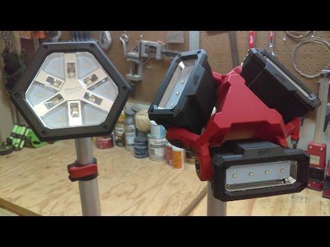 Milwaukee M18 Rocket Light vs Stand Light Review