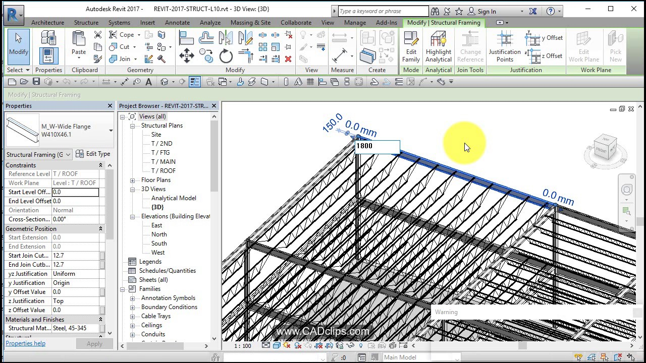 REVIT STRUCTURAL PROJECT 10 TILT GIRDER AND BEAM SYSTEM