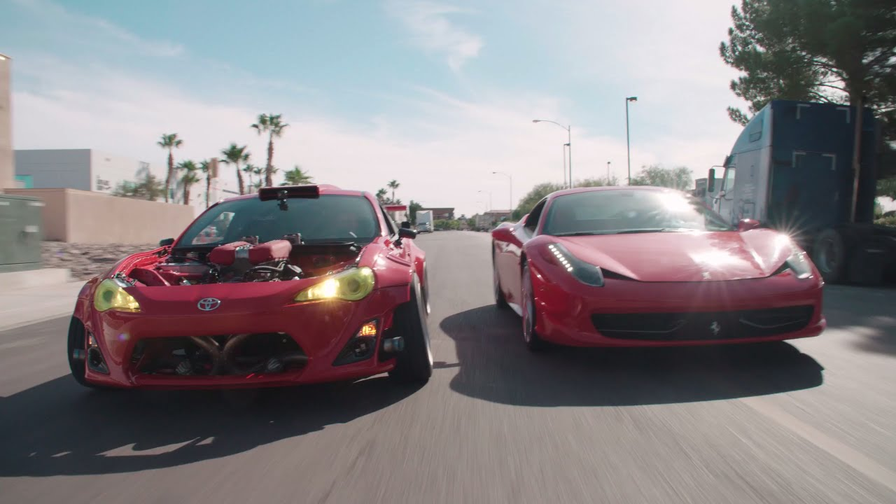 Ferrari powered toyota doing donuts w ryan tuerck l the for Wing motors automobiles miami fl