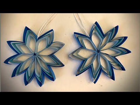 How to make a hanging paper flower for easy party decorations / DIY paper craft ideas / easy DIY