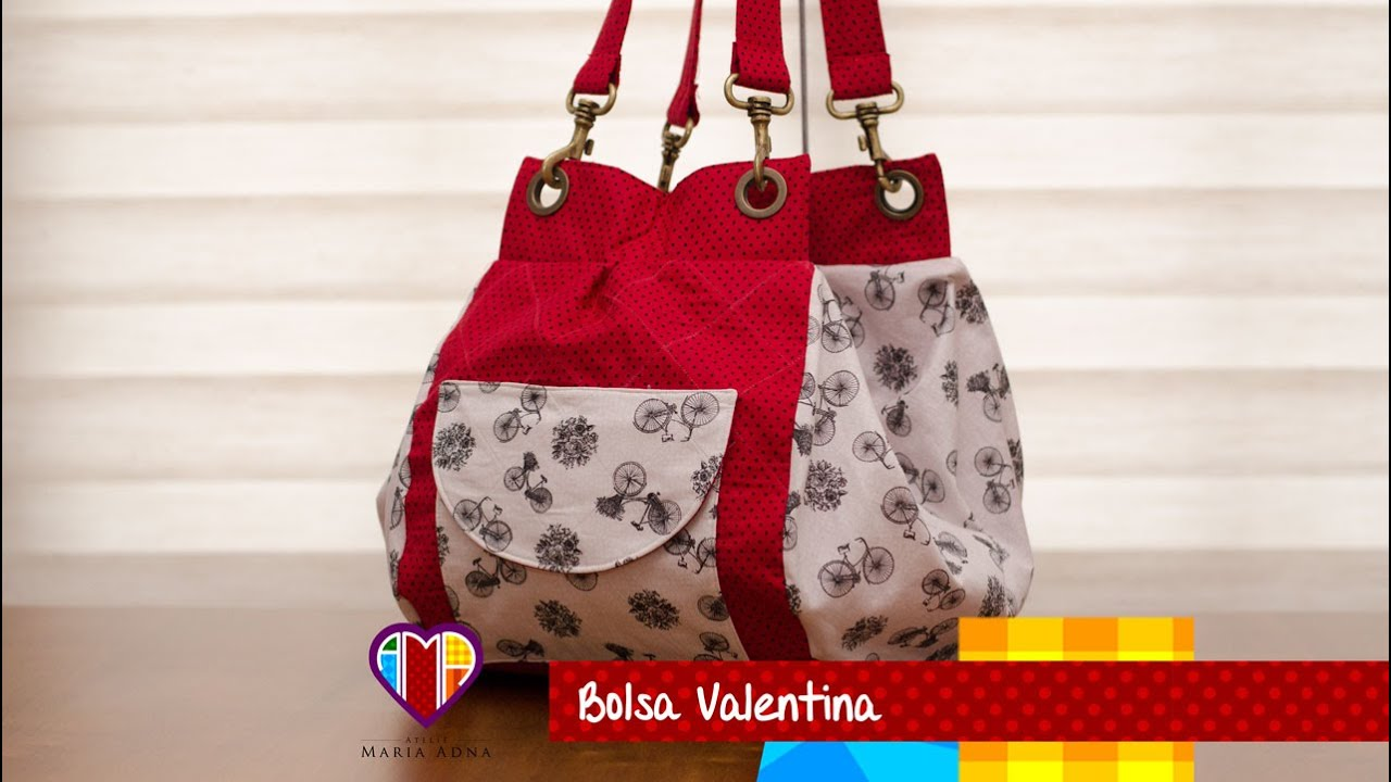 3cf6698d6 Bolsa mochila de tecido Valentina. DIY. Fabric bag and backpack. Fabric bag  and backpack tutorial