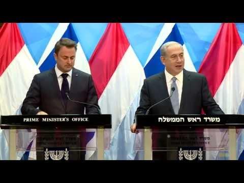 PM Netanyahu Meets PM of Luxembourg Xavier Bettel