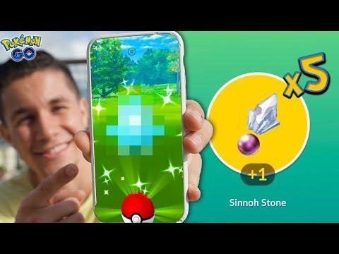 A NEW SHINY + GUARANTEED SINNOH STONES in Pokémon GO! thumbnail