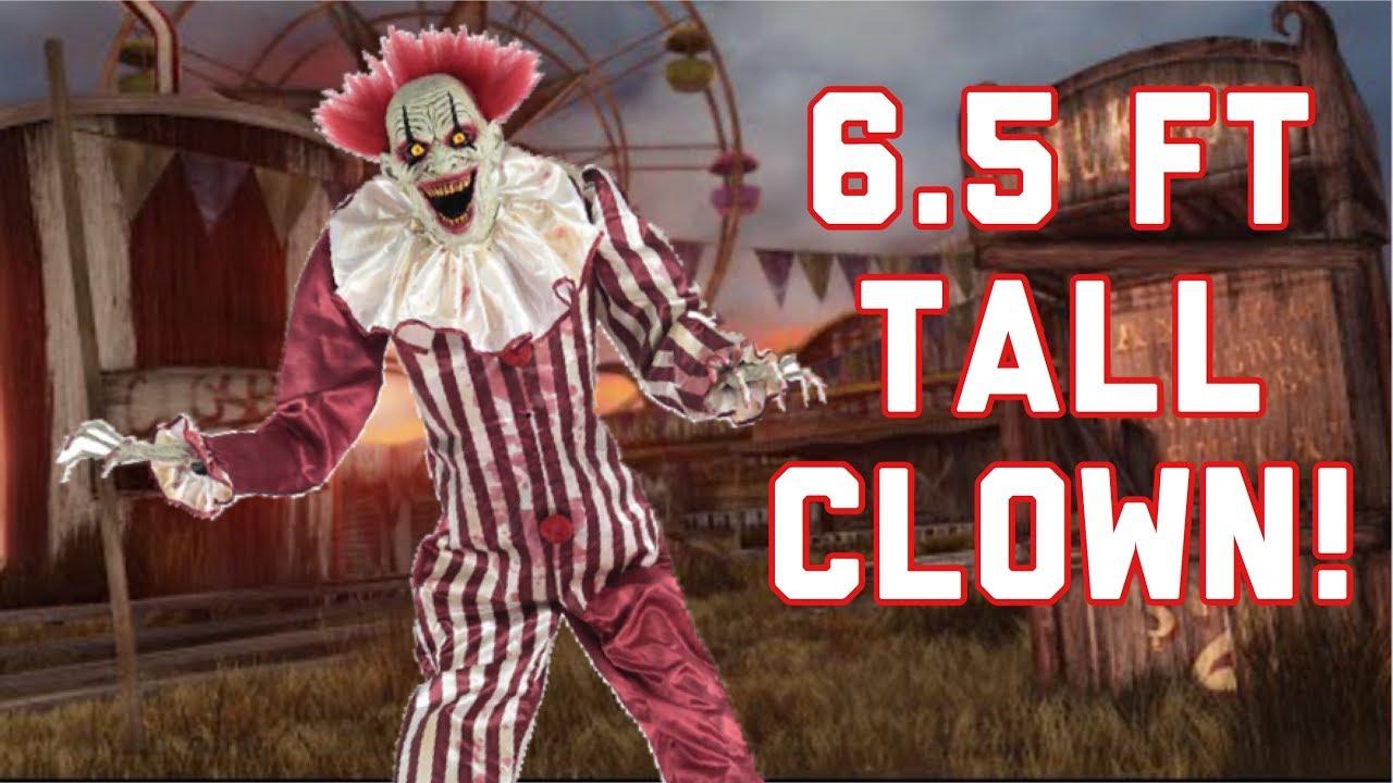Spirit halloween 2017 sneak peeks towering clown - YouTube