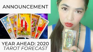 SHORT ANNOUNCEMENT RE: 2020 YEAR AHEAD READINGS