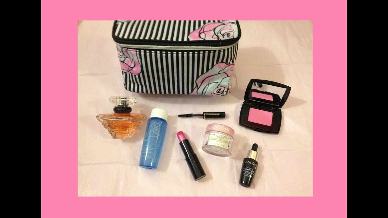 Lancôme free gift with purchase unboxing~ April - YouTube