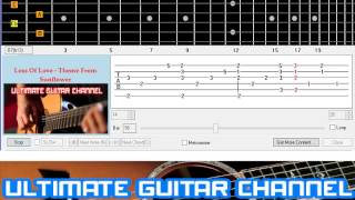 [Guitar Solo Tab] Loss Of Love - Theme From Sunflower (Henry Mancini)