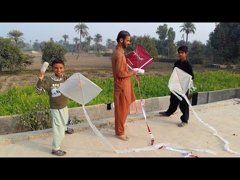 Basant In Punjab   Flying Kites   Pakistan Village Life