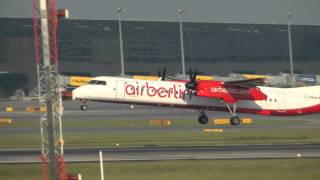 The Bombardier Dash 8 or Q-Series at Vienna Airport ( VIE/LOWW ) HD