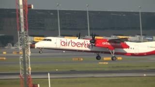 The Bombardier Dash 8 or Q-Series at Vienna Airport ( VIE/LOWW ) HD
