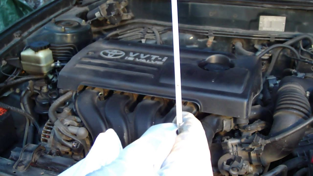 How To Check Oil Level Toyota Corolla Vvti Engine  Detail