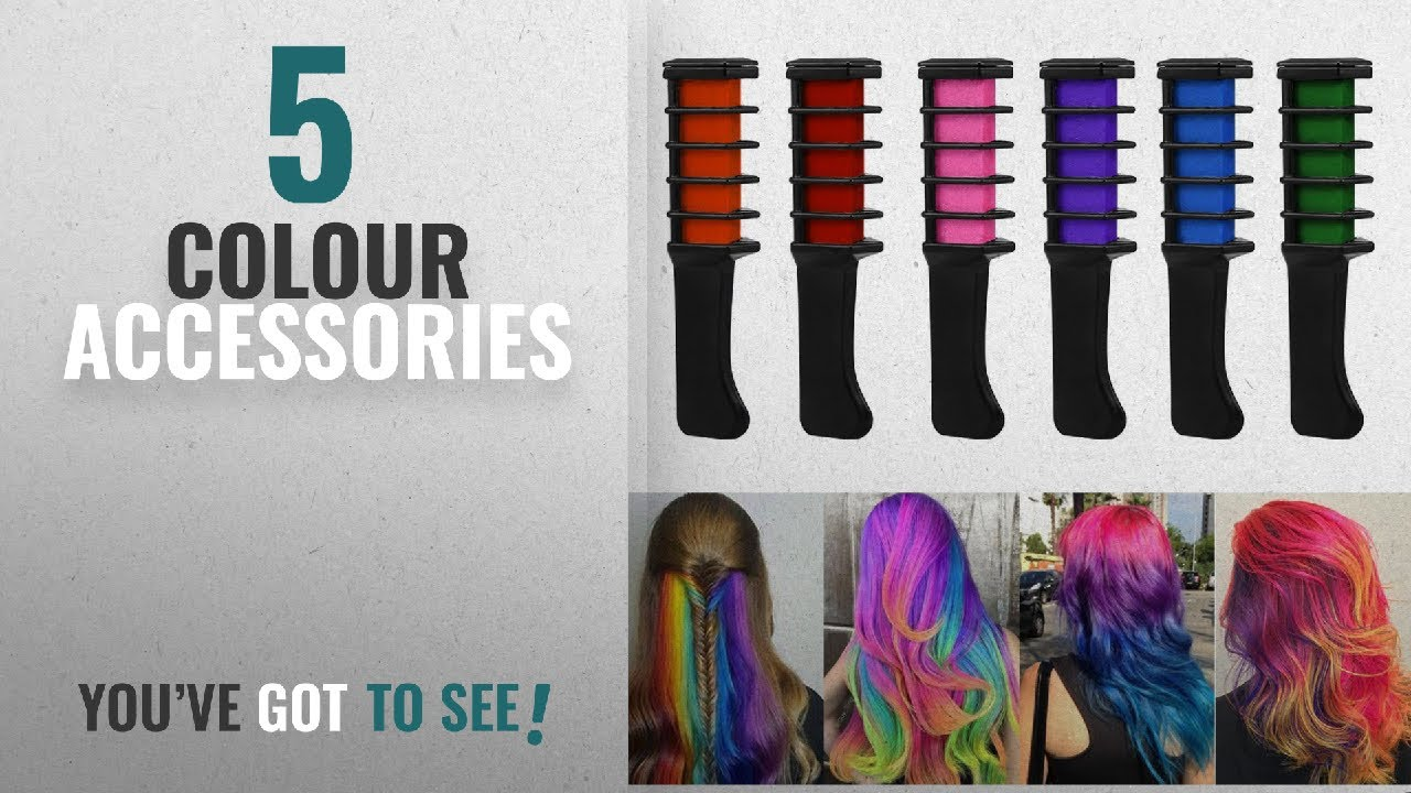 Top 10 Colour Accessories [2018]: Hair Chalk Comb,Etmury Temporary Hair  Chalk Colour Set,6 Pcs Mini
