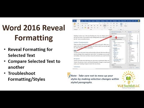 Word 2016 reveal formatting feature youtube word 2016 reveal formatting feature ccuart Choice Image