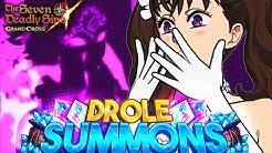MY GAME IS BROKEN!!! DROLE'S BIZARRE SUMMONS! | Seven Deadly Sins: Grand Cross