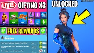 🔴 *NEW* OVERTIME CHALLENGES, GIFTING SKINS & FINAL FREE REWARDS FORTNITE LIVE)