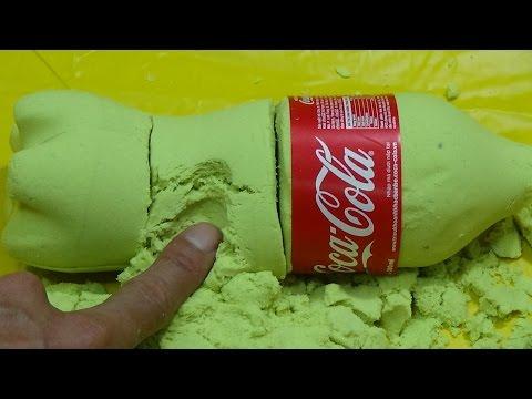 DIY How To Make 'Kinetic Sand Coca Cola' Learn Colors Slime Foam Clay Icecream