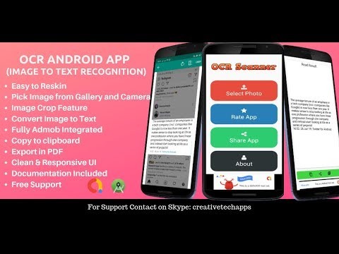 OCR( Image to Text Recognition) Android App Source Code - YouTube