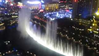 Bellagio Water Show  View from the Terrace Suite at the Cosmo