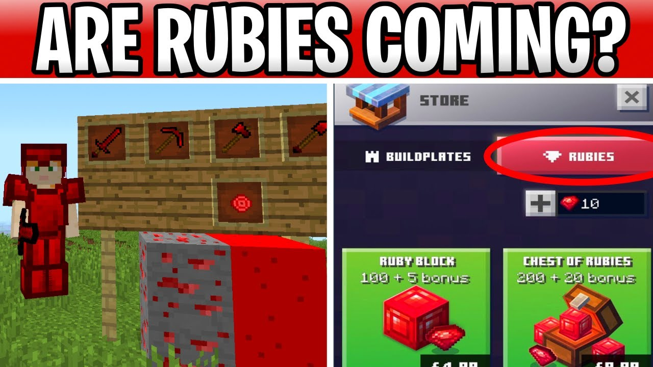 Minecraft Rubies Coming? Ruby Armor, Tools & Blocks Under Review!