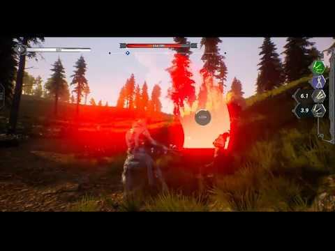 UE4 Unreal Engine Open World Action RPG Early Work In Progress Testing Characters And Landscape