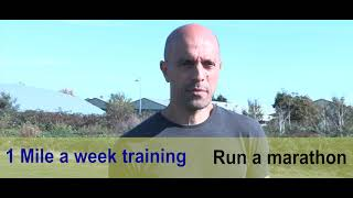 Run a Marathon on 1 mile a week training? | Trailer