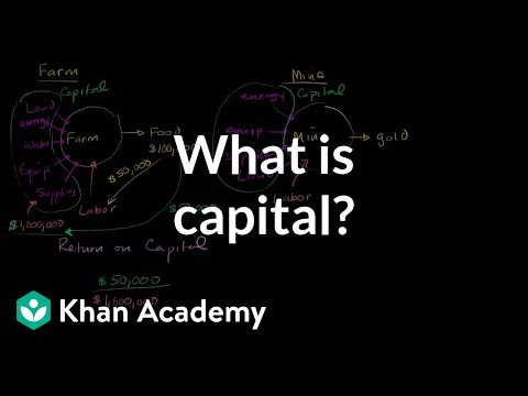 What is capital? | GDP: Measuring national income | Macroeconomics | Khan Academy