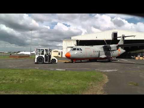 Nigerian Air Force NAF930 ATR-42 enters Air Contractors Hangar