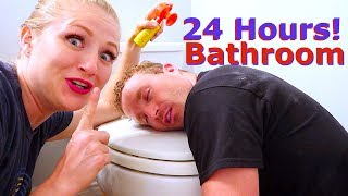 24 Hours In The Bathroom! Becca And Ryan Show Challenge!