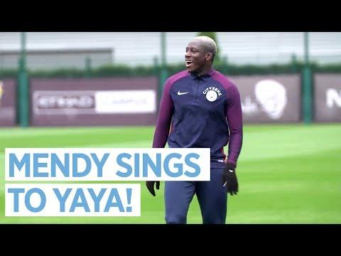 MENDY SINGS TO YAYA TOURE!   Man City Training
