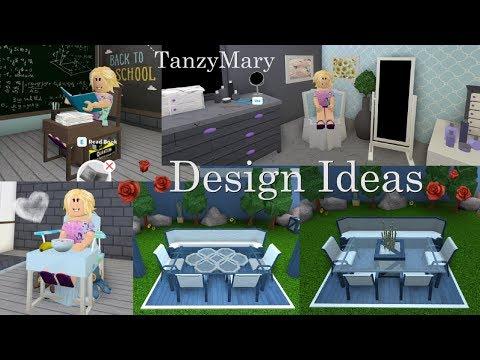 Bloxburg Design Ideas Furniture Hacks, Student Desk, High Chair Tutorial Speed Build thumbnail