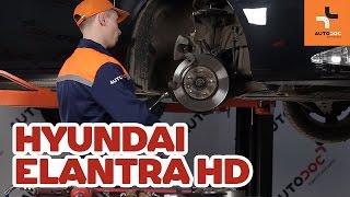 Hvordan bytte Bremsebelegg HYUNDAI ELANTRA Saloon (HD) - online gratis video