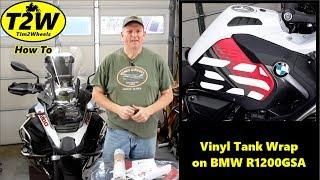 T2W How To: Vinyl Tank Wrap on BMW R1200GSA