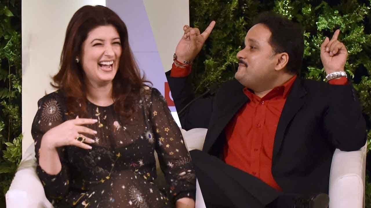 6ed1f4abe3b56 Twinkle Khanna, Amish Tripathi full session at HTLS 2018