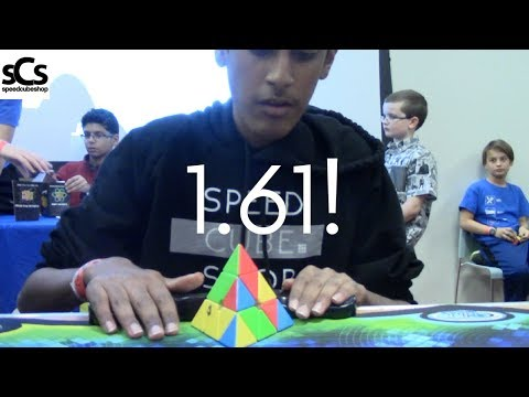 1.61 Official Pyraminx Single!   Liberty Science Center Open 2017