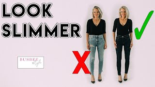 How To INSTANTLY Look Slimmer! 10 Style Tricks