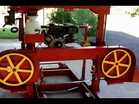 Saw Mill For Sale >> Homemade Band Sawmill to cut Mesquite 2nd Gen - YouTube