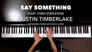 Justin Timberlake - Say Something ft. Chris Stapleton (HQ piano cover)