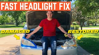 How To RESTORE Your Headlights To New In FIVE Minutes