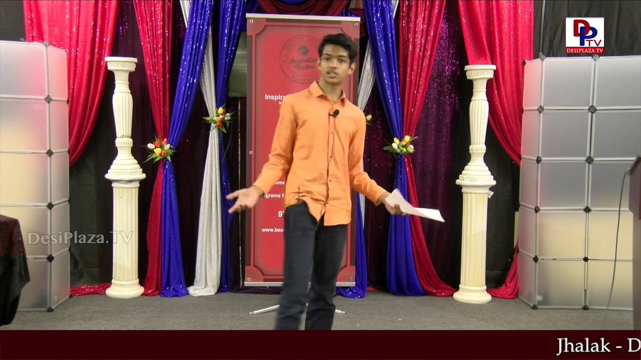 Young boy speaks on a topic at Talking Bee - Public Speaking Competitions 2018 || DesiplazaTV