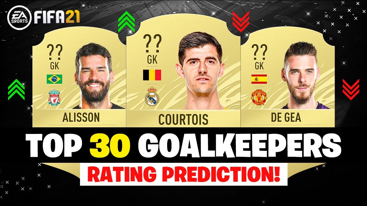 Fifa 21 Top 30 Best Goalkeepers Rating Ft Alisson Courtois De Gea Etc Youtube