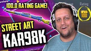 """SICK NEW KAR98 GUN SKIN + 100 RATING """"PERFECT"""" GAME? PUBG MOBILE"""