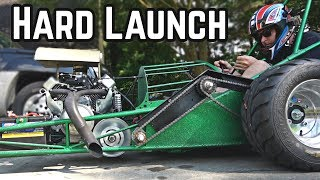 THE DRAGSTER DOES (BABY) WHEELIES! | 50HP 670cc Drag Rail Kart