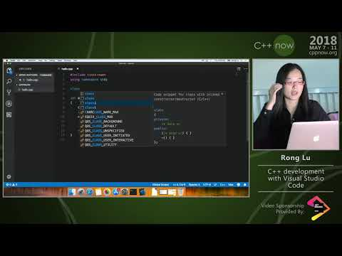 "C++Now 2018: Rong Lu ""C++ Development With Visual Studio Code"""