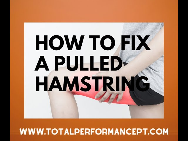 How to fix a pulled hamsting