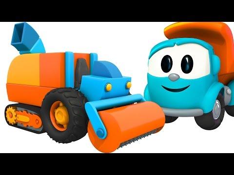 Грузовочик Лева Малыш и Машина для мороженого. Мультик 3D.Мультфильмы для детей про машинки.