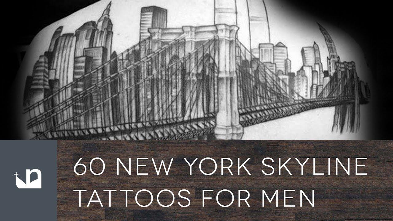 60 New York Skyline Tattoos For Men - YouTube