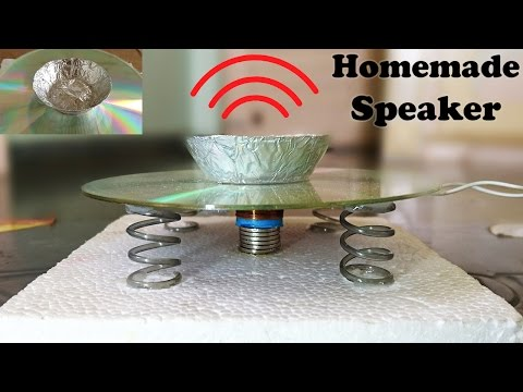 How to Make a Speaker using CD at Home